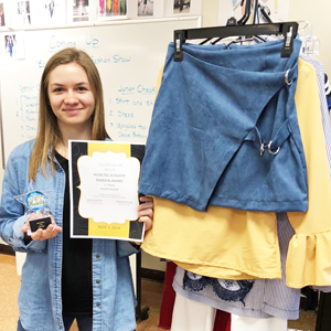 Liliya with her award and collection