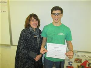 Cameron and Ohio Tech College Representative with scholarship