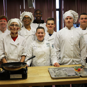 Culinary Institute of America Instructor with students